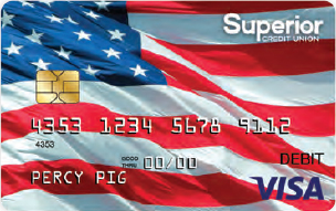 American Flag VISA